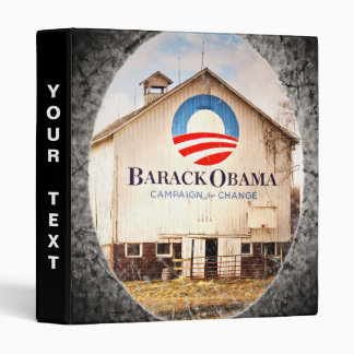 Barack Obama Presidential Campaign Barn 3 Ring Binder