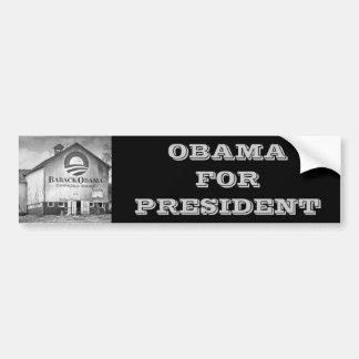Barack Obama Presidential Campaign Barn Car Bumper Sticker