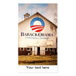 Barack Obama Presidential Campaign Barn Business Card Templates