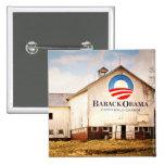 Barack Obama Presidential Campaign Barn 2 Inch Square Button