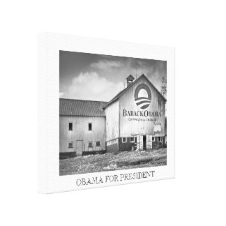 Barack Obama Presidential Campaign Barn Canvas Print