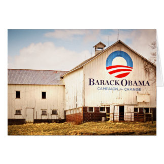 Barack Obama Presidential Campaign Barn Card