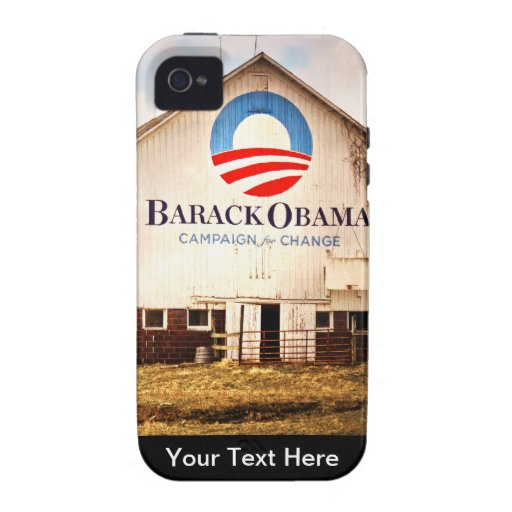 Barack Obama Presidential Campaign Barn Case-Mate iPhone 4 Covers