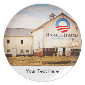 Barack Obama Presidential Campaign Barn Dinner Plate