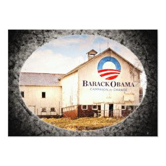 "Barack Obama Presidential Campaign Barn 5"" X 7"" Invitation Card"