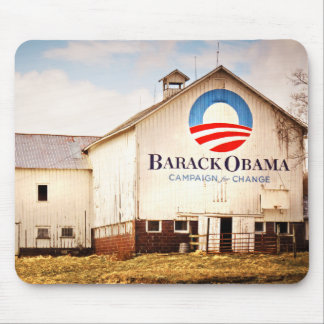 Barack Obama Presidential Campaign Barn Mouse Pads