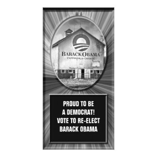 Barack Obama Presidential Campaign Barn Customized Photo Card