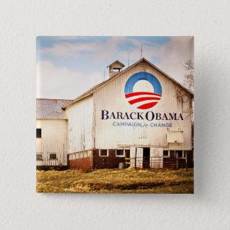 Barack Obama Presidential Campaign Barn Pinback Button