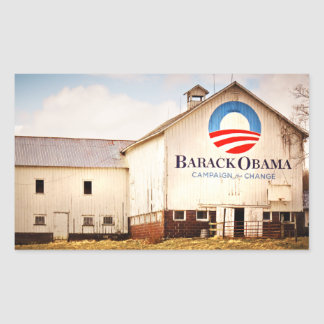 Barack Obama Presidential Campaign Barn Rectangular Sticker