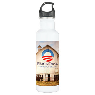 Barack Obama Presidential Campaign Barn Stainless Steel Water Bottle