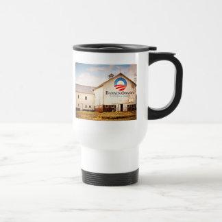Barack Obama Presidential Campaign Barn Travel Mug
