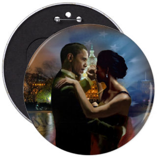 BARACK OBAMA Presidential Inauguration Gifts 6 Inch Round Button