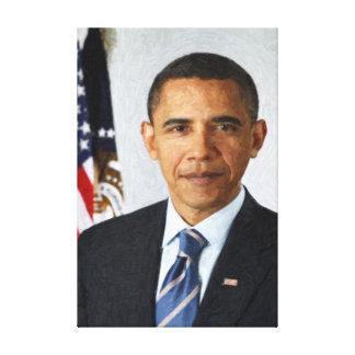 Barack Obama Presidential Portrait Canvas Prints