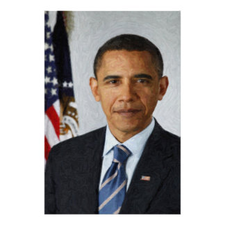 Barack Obama Presidential Portrait Print
