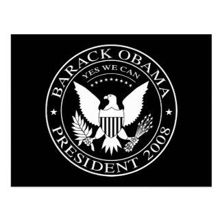 Barack Obama Presidential Seal 2008 Postcard