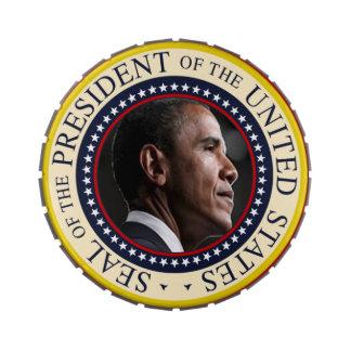 Barack Obama Presidential Seal Jelly Belly Tin