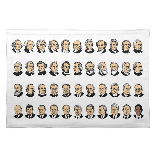 Barack Obama - Presidents Of The United States Cloth Placemat