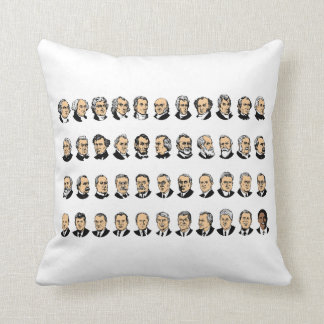 Barack Obama - Presidents Of The United States Throw Pillows