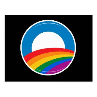 Barack Obama Pride Button - Postcard