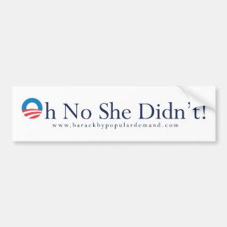 Barack Obama Primary Bumper Sticker