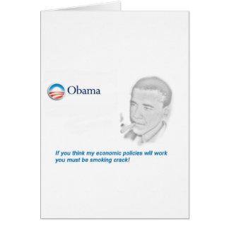 Barack Obama Protest Greeting Card