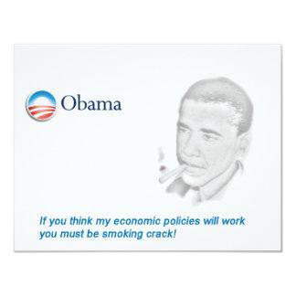 Barack Obama Protest Card