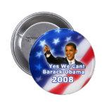 Barack Obama que podemos abotonar sí Pins