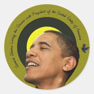 Barack Obama que vive el pegatina ideal