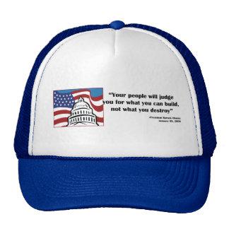 Barack Obama Quote Mesh Hats