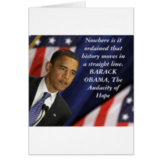 Barack Obama Quote on History Card