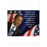 Barack Obama Quote on History Postcard