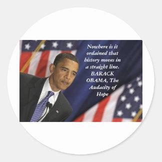 Barack Obama Quote on History Round Sticker