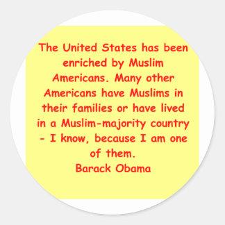 barack obama quote round stickers