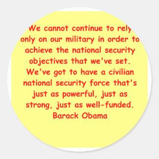 barack obama quote round sticker