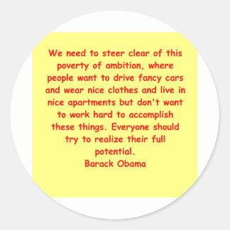 barack obama quote sticker