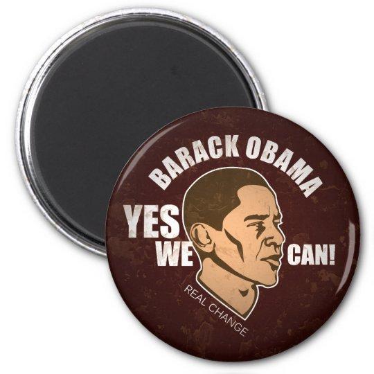 Barack Obama, Real Change, Vintage 2 Inch Round Magnet