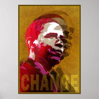Barack Obama Red & Gold Poster