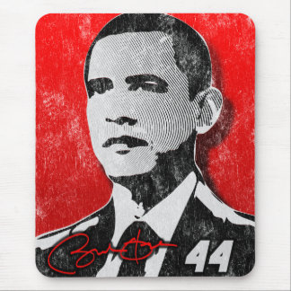 Barack Obama Red Portrait Mouse Pad