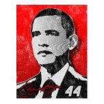 Barack Obama Red Portrait Postcard