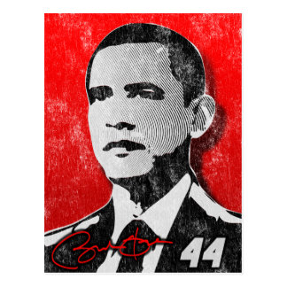 Barack Obama Red Portrait Postcard