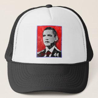 Barack Obama Red Portrait Trucker Hat
