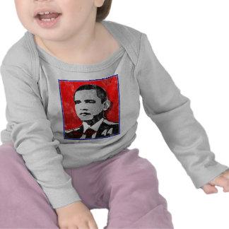 Barack Obama Red Portrait T-shirts