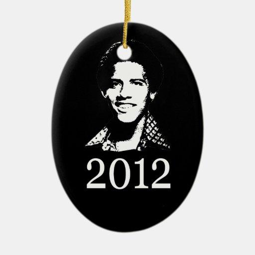 Barack Obama retro Ornamentos Para Reyes Magos