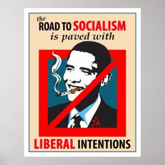 Barack Obama Road To Socialism Poster