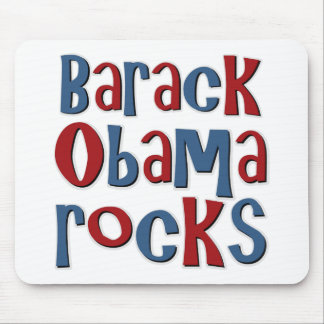 Barack Obama Rocks Mouse Pad