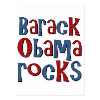 Barack Obama Rocks Postcard
