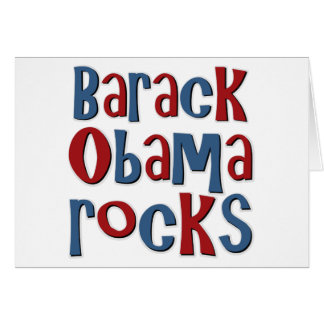 Barack Obama Rocks Tees and Gifts Greeting Card