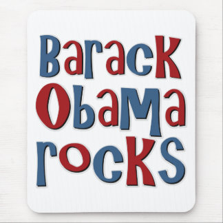 Barack Obama Rocks Tees and Gifts Mouse Pad