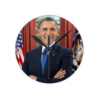 Barack Obama Round Clock