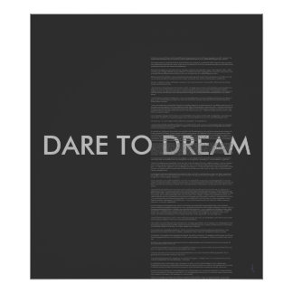 "Barack Obama's Victory Speech ""dare to dream"" Poster"